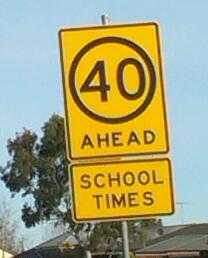 Speed limit out side school